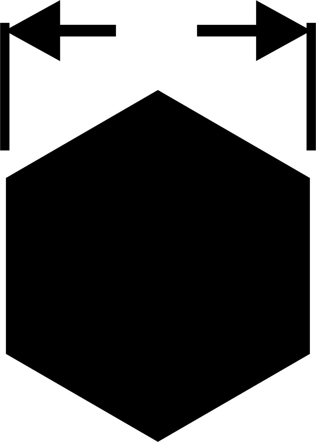 Veľkosť - vonkajší 6-hran (INBUS) (