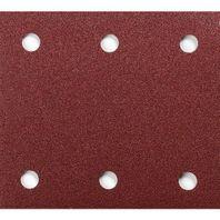10k.brúsny papier 102x114mm K-80 (6 otvorov)suchý zip MAKITA P-33102 (P-01498)