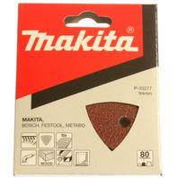10k.brúsny papier 95x95x95mm K-120 (6 otvorov)suchý zip MAKITA P-33299 (B-21593)