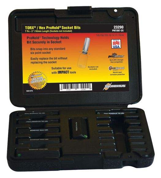 Bondhus PHTXH7-2C 23290 Násadec (T45-T55)+(INBUS 12-1 9mm) 7-dielna sada